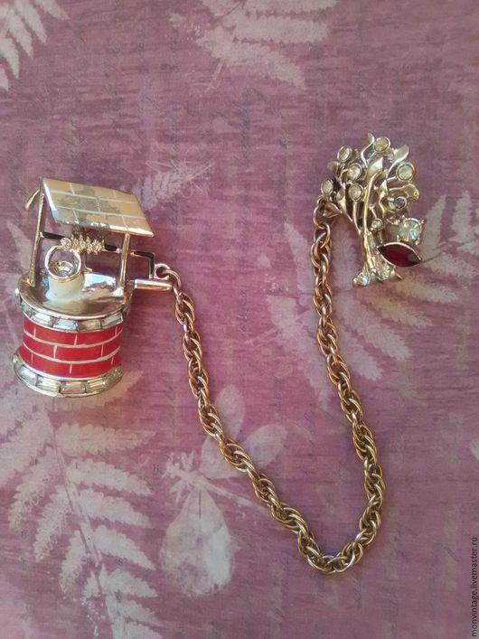 Винтажные украшения. Ярмарка Мастеров - ручная работа. Купить Винтажная двойная брошь Coro 1940 гг. Handmade. Комбинированный, кристаллы