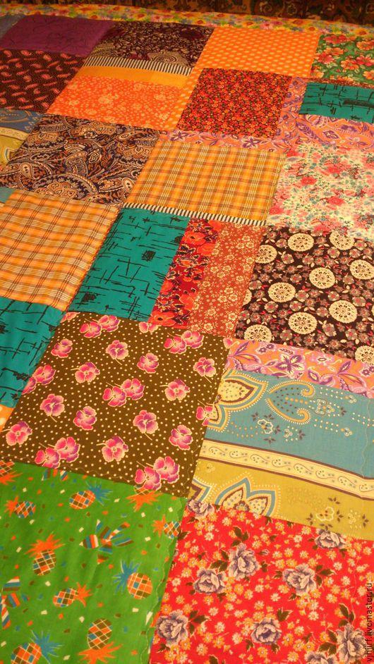 Текстиль, ковры ручной работы. Ярмарка Мастеров - ручная работа. Купить Покрывало Пестрое 8. Handmade. Покрывало лоскутное