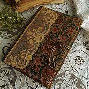 Канцелярские товары ручной работы. Ярмарка Мастеров - ручная работа Блокнот ручной работы в викторианском стиле. Handmade.