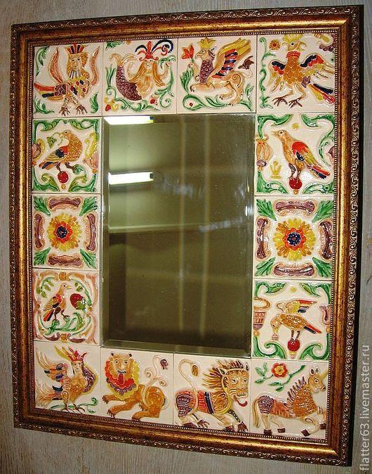 Зеркала ручной работы. Ярмарка Мастеров - ручная работа. Купить Русский стиль. Handmade. Оригинальный подарок, украшение интерьера