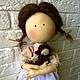 Текстильная кукла. кукла из ткани. Варенька. Кукла купить. эко дом. эко кукла. кукла из натуральных материалов