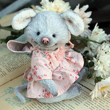 Куклы и игрушки ручной работы. Ярмарка Мастеров - ручная работа Мышка Эли, тедди мышка. Handmade.