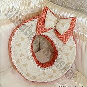 Для дома и интерьера ручной работы. Ярмарка Мастеров - ручная работа Интерьерные подушки буквы. Handmade.