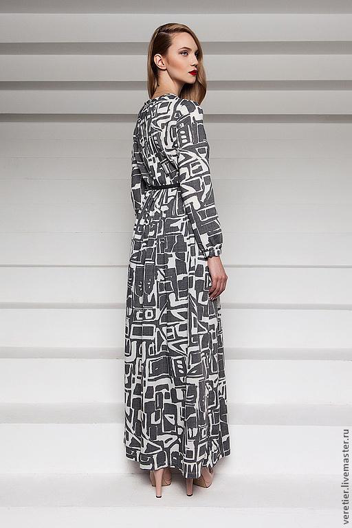 Платья ручной работы. Ярмарка Мастеров - ручная работа. Купить Платье LDG. Handmade. Серый, платье, мода, стиль, пояс
