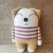 Куклы и игрушки handmade. Livemaster - original item Soft toy cat Amigurumi splyushka knitted handmade.. Handmade.