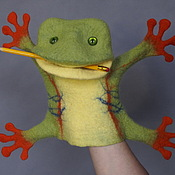 Куклы и игрушки handmade. Livemaster - original item Tropical frog. Glove puppet. Bi-BA-Bo.. Handmade.