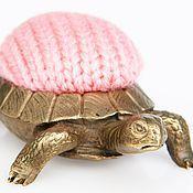 Для дома и интерьера handmade. Livemaster - original item Pincushion turtle, brass, knit, 50х80 × . Handmade.
