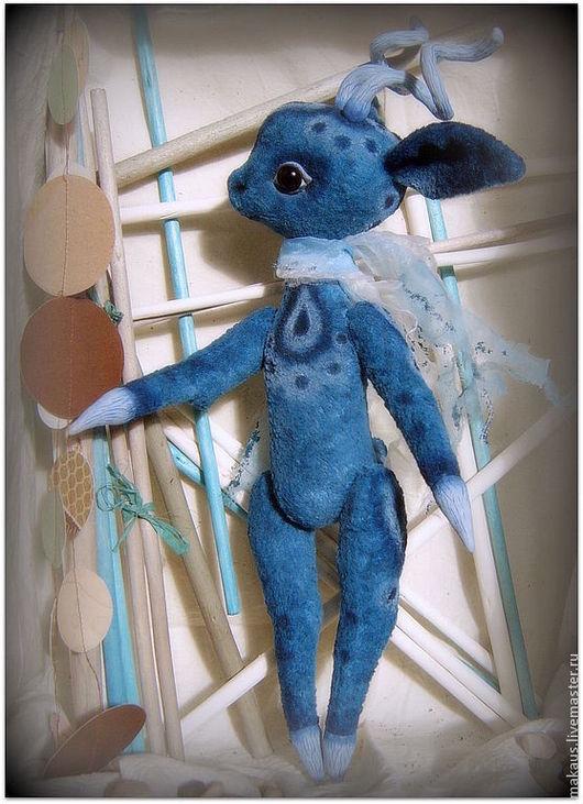 """Мишки Тедди ручной работы. Ярмарка Мастеров - ручная работа. Купить Тедди-олень """"Иничка"""". Handmade. Синий, лесная сказка"""