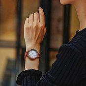 Часы наручные ручной работы. Ярмарка Мастеров - ручная работа Женские деревянные часы Woodee Nacre. Handmade.