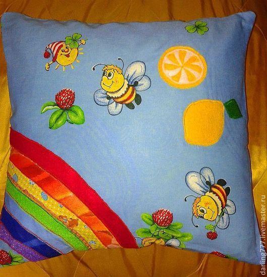 А я знаю, как поселить дома радугу-дугу! Позитивная подушка-игрушка РАДУГА И ЛИМОН! Для тех, кто не боится впустить краски в свой дом!  Украсит детскую вашего ребенка, гостиную или загородный дом,