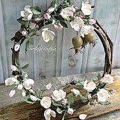 """Венок """"Яблоневый сад"""" для интерьера"""