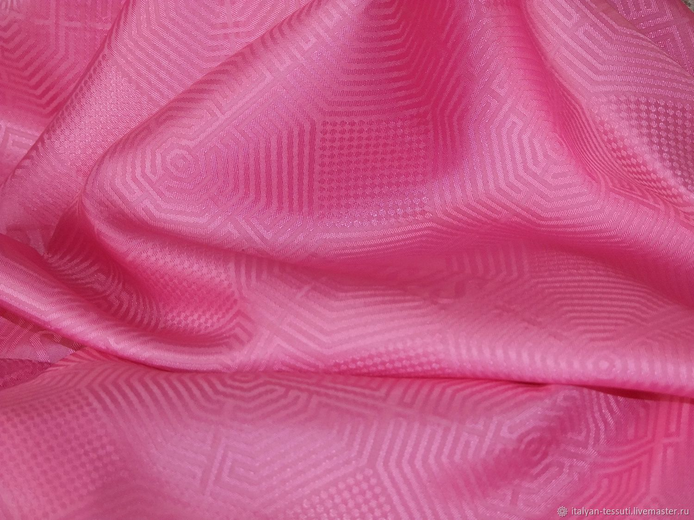 Шитье ручной работы. Ярмарка Мастеров - ручная работа. Купить Подкладочная жаккард (Versus), Италия. Handmade. Розовый, итальянские ткани