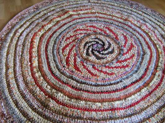 """Текстиль, ковры ручной работы. Ярмарка Мастеров - ручная работа. Купить большой  """"дервенский""""  коврик. Handmade. Комбинированный, коврик на пол"""
