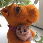 Куклы и игрушки ручной работы. Ярмарка Мастеров - ручная работа Бегемотик Мандаринка. Handmade.