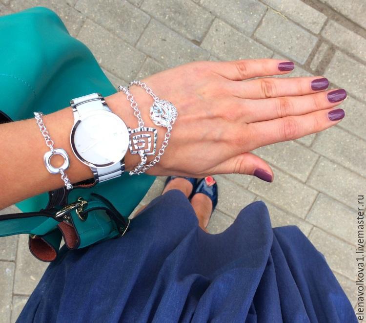 Браслеты на руку для женщин из серебра