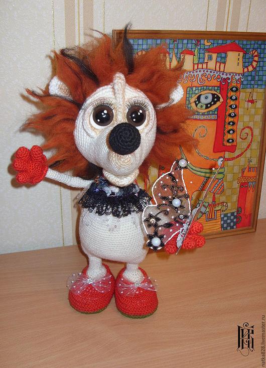Куклы и игрушки ручной работы. Ярмарка Мастеров - ручная работа. Купить Вязаная интерьерная игрушка Ежик 40 см. Handmade.