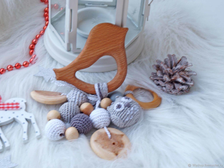 Teething toy rattle with cavuskoy 'Novotny', Teethers rattles, St. Petersburg,  Фото №1