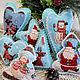 """Новый год 2017 ручной работы. Ярмарка Мастеров - ручная работа. Купить Елочных игрушки  из фетра """"Привет из Северного полюса"""". Handmade."""