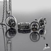 Украшения handmade. Livemaster - original item Paired set of jewelry in the form of skulls.. Handmade.