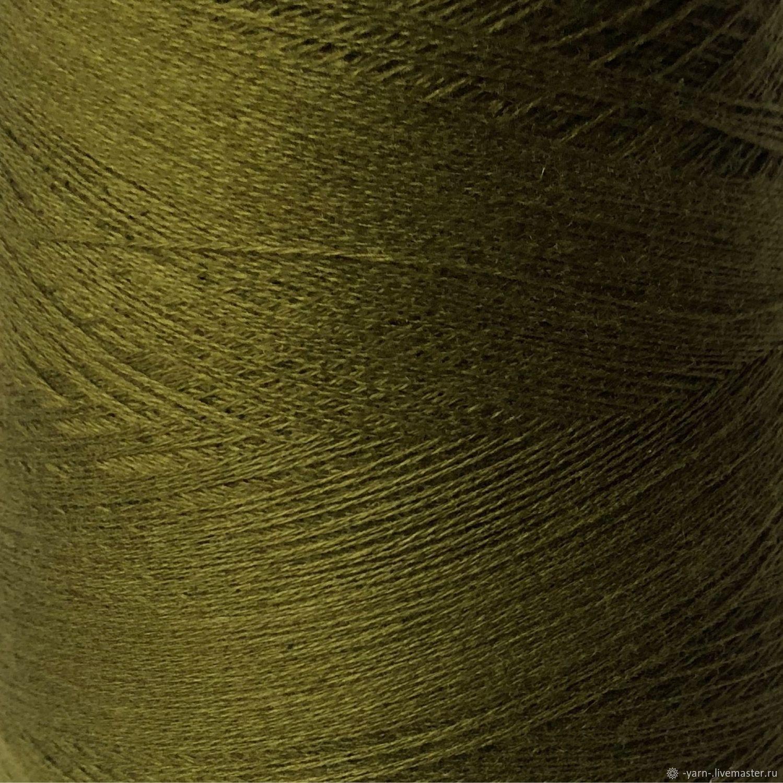 Пряжа Кашемир 2/28 сочный темно-оливковый – купить на Ярмарке Мастеров – N0C9ORU | Пряжа, Санкт-Петербург