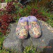 """Обувь ручной работы. Ярмарка Мастеров - ручная работа Тапочки """"Холодное лето"""". Handmade."""