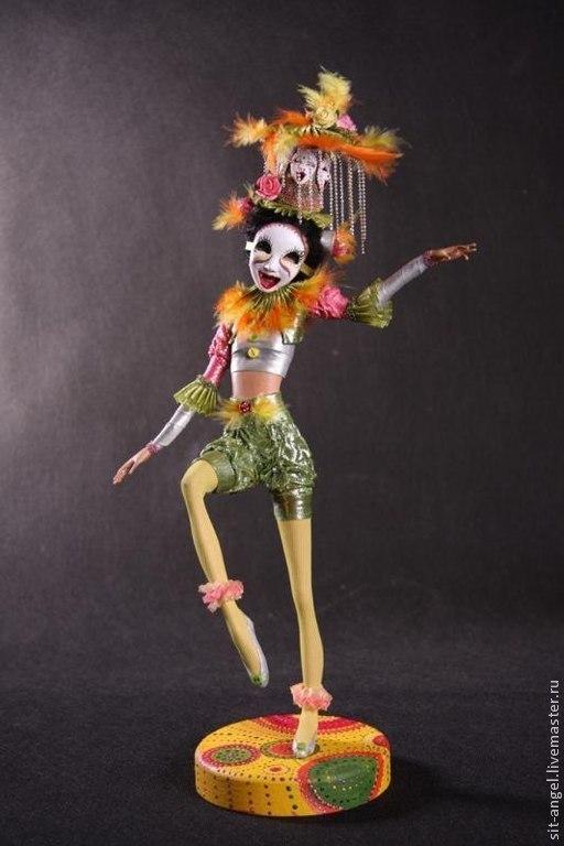 """Коллекционные куклы ручной работы. Ярмарка Мастеров - ручная работа. Купить """"Город улыбок"""". Handmade. Кукла, кукла интерьерная"""