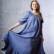 Одежда handmade. Livemaster - original item A linen dress in peasant style
