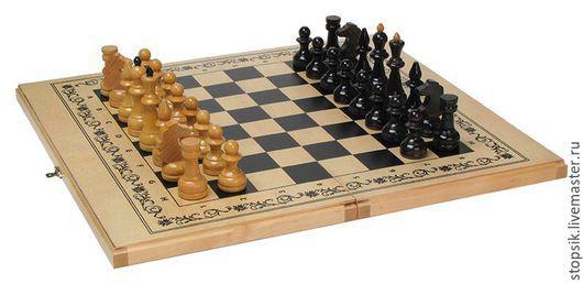 Настольные игры ручной работы. Ярмарка Мастеров - ручная работа. Купить Шахматы, нарды, шашки Неаполь (средние, светлые) ( 11096). Handmade.