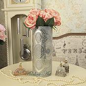 Для дома и интерьера ручной работы. Ярмарка Мастеров - ручная работа КРИСТИ SILVER ваза для цветов. Handmade.