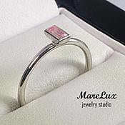 """Украшения ручной работы. Ярмарка Мастеров - ручная работа """"Розовый фианит"""" кольцо из серебра 925 от MareLux. Handmade."""