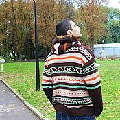"""Одежда ручной работы. Ярмарка Мастеров - ручная работа Мужская кофта с капюшоном """"Осенний сезон"""". Handmade."""