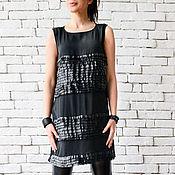 Одежда handmade. Livemaster - original item Black Loose Tunic. Handmade.