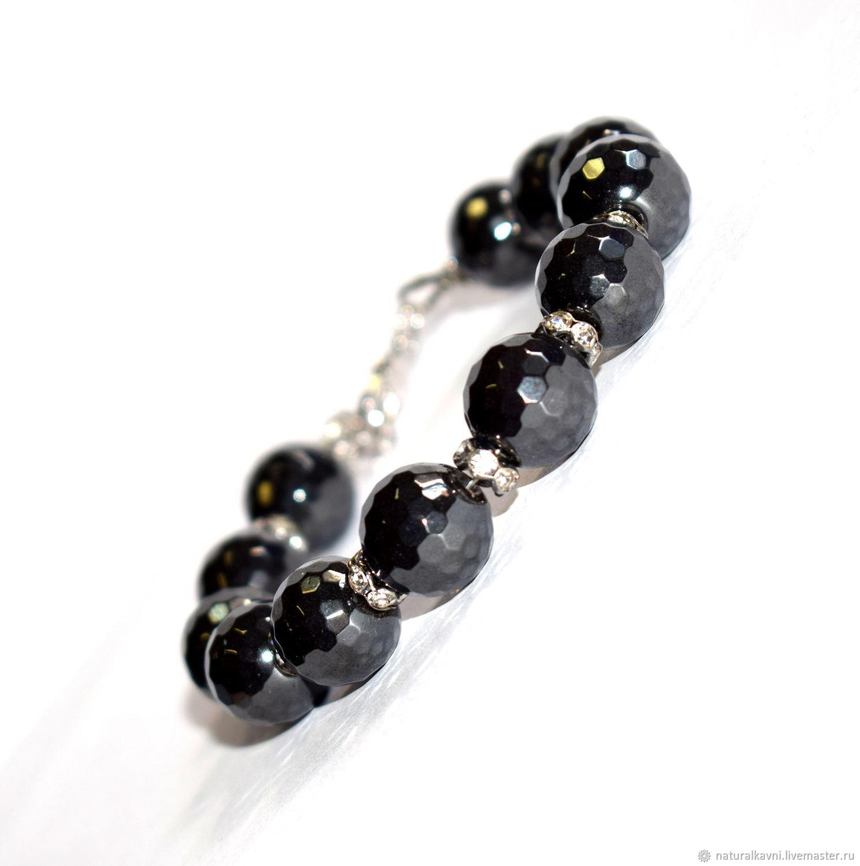 Womens bracelet genuine hematite, Bead bracelet, Moscow,  Фото №1