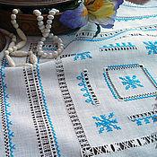 Для дома и интерьера handmade. Livemaster - original item Cloth hand embroidery linen hemstitch. Handmade.