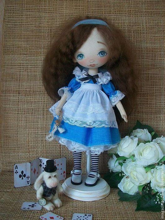 Коллекционные куклы ручной работы. Ярмарка Мастеров - ручная работа. Купить Интерьерная кукла Алиса. Handmade. Текстильная кукла, заяц