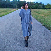 Одежда handmade. Livemaster - original item Large size Knit dress