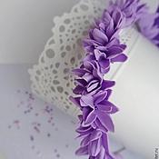 Свадебный салон ручной работы. Ярмарка Мастеров - ручная работа ободок Сиреневый Узор. Handmade.