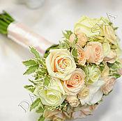 """Свадебный салон ручной работы. Ярмарка Мастеров - ручная работа Букет невесты """" Розы"""". Handmade."""