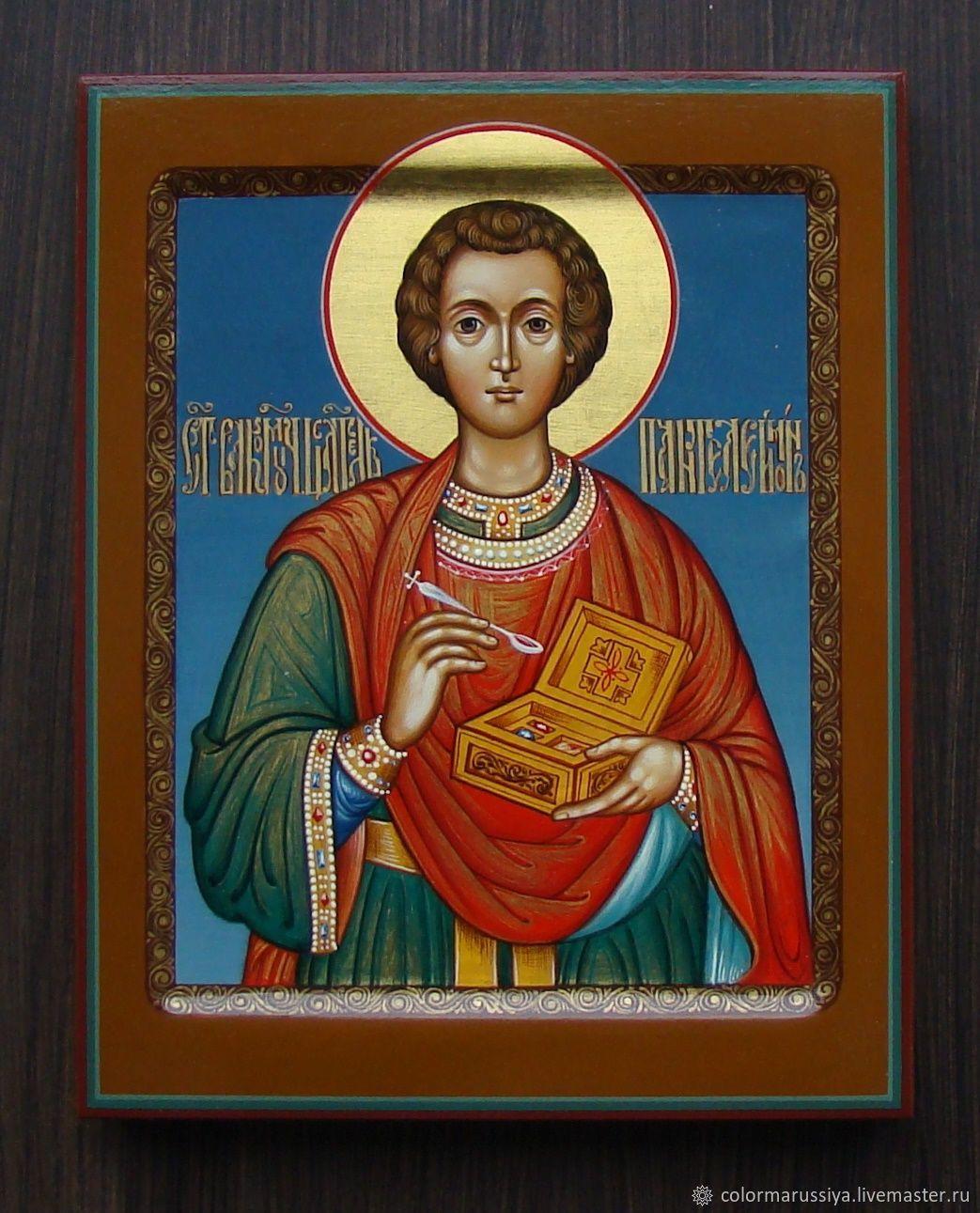 The icon of St. Panteleimon (handwritten), Icons, Vyazniki,  Фото №1