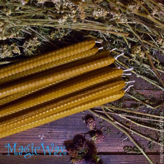 Свечи ручной работы. Ярмарка Мастеров - ручная работа. Купить Свеча из вощины тонкая 20х1. Handmade. Желтый, воск пчелиный