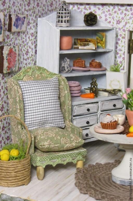 Кукольный дом ручной работы. Ярмарка Мастеров - ручная работа. Купить переулок Цветочный дом 5. Handmade. Домик, микро