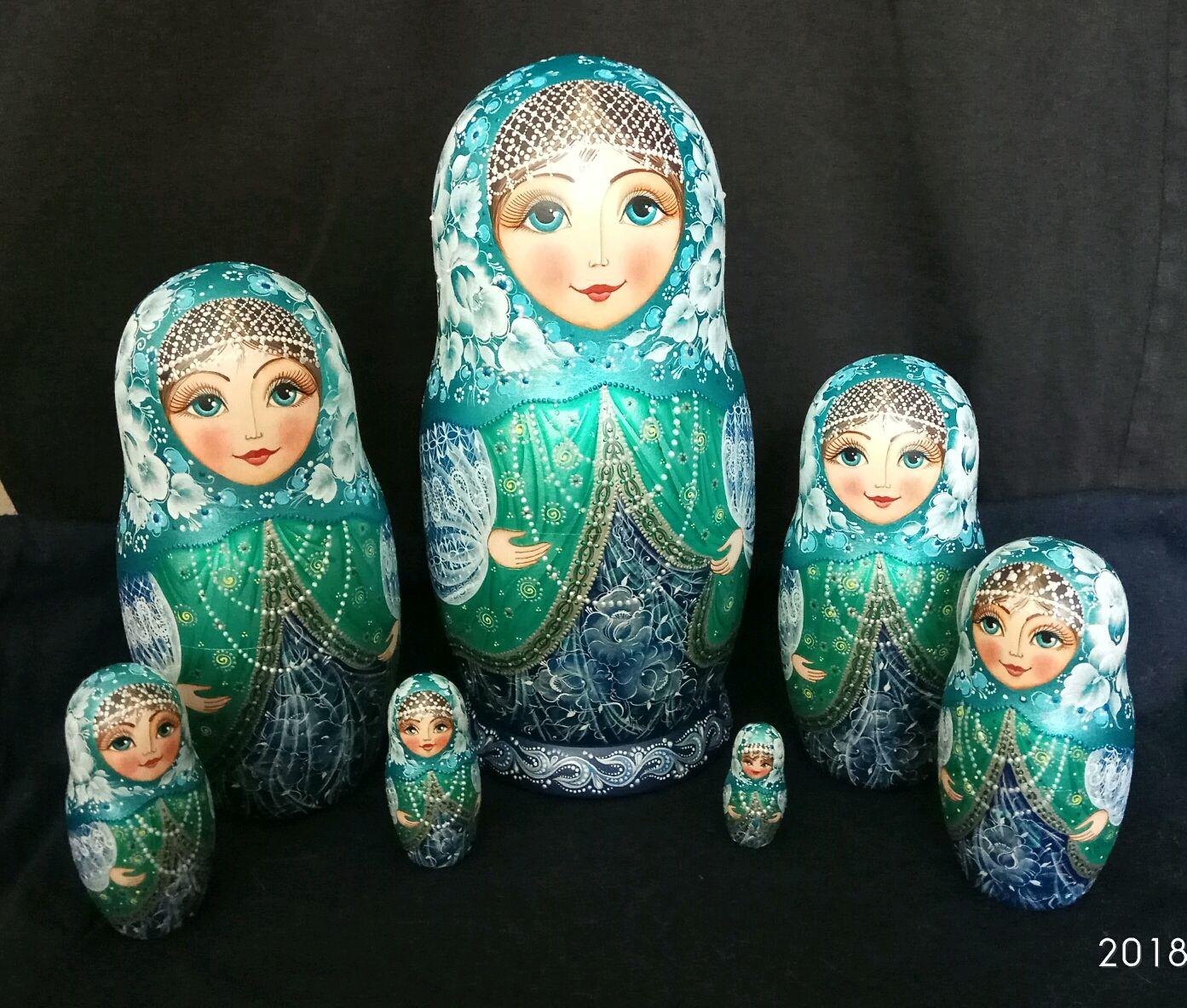 Матрешка 7-ка с бусами, Матрешки, Волжский,  Фото №1
