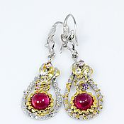 Украшения handmade. Livemaster - original item Earrings with natural ruby. Handmade.
