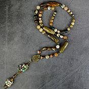 Украшения handmade. Livemaster - original item Author`s sautoir with natural agate pendant. Handmade.
