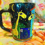 """Посуда ручной работы. Ярмарка Мастеров - ручная работа Кружка """"Влюбленные жирафы"""". Handmade."""