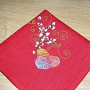 """Для дома и интерьера ручной работы. Ярмарка Мастеров - ручная работа салфетка """"пасхальный декор"""". Handmade."""