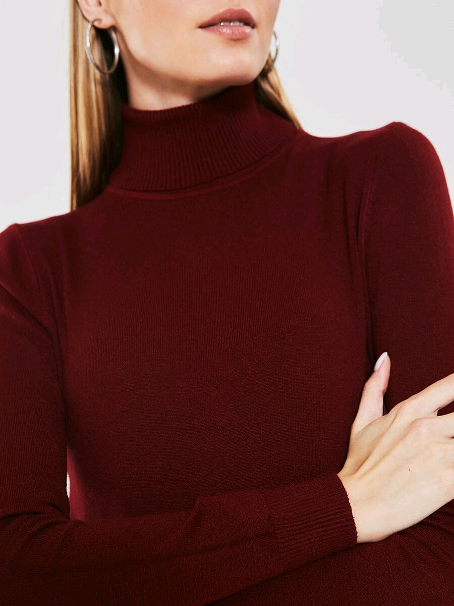 Turtleneck wool Burgundy color, Turtleneck Sweaters, Moscow,  Фото №1