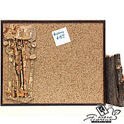 "Картины и панно handmade. Livemaster - original item Cork notes board ""Red fox in the forest"". Handmade."