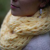 Аксессуары ручной работы. Ярмарка Мастеров - ручная работа Желтый шарф снуд труба. Handmade.