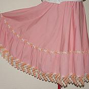 Одежда ручной работы. Ярмарка Мастеров - ручная работа СКИДКА-Юбка розовая с кружевом. Handmade.